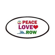 Peace Love Row Designs Patches