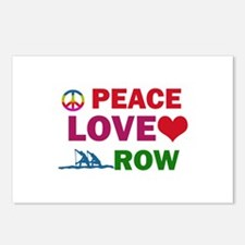 Peace Love Row Designs Postcards (Package of 8)