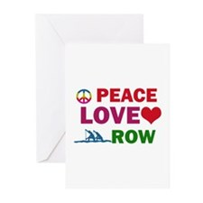 Peace Love Row Designs Greeting Cards (Pk of 10)