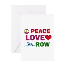 Peace Love Row Designs Greeting Card
