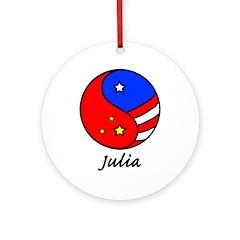 Julia Ornament (Round)