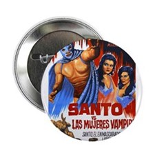 "Santo vs. Vampire 2.25"" Button"