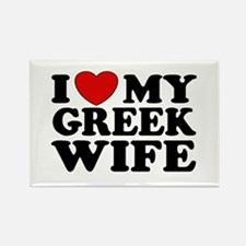 I love My Greek Wife Rectangle Magnet
