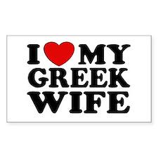 I love My Greek Wife Rectangle Decal