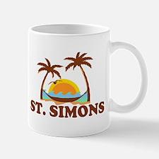 St. Simons Island - Palm Trees Design. Mug