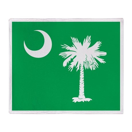 SC Palmetto Moon Throw Blanket