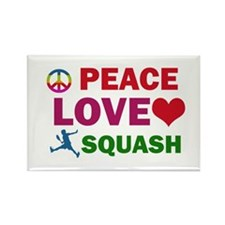 Peace Love Squash Designs Rectangle Magnet