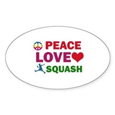 Peace Love Squash Designs Decal
