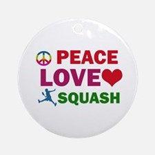 Peace Love Squash Designs Ornament (Round)