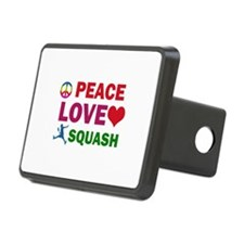 Peace Love Squash Designs Hitch Cover
