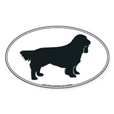 Sussex Spaniel Silhouette Oval Decal