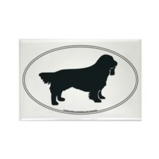 Sussex Spaniel Silhouette Rectangle Magnet