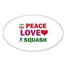 Peace Love Squash Designs Decal