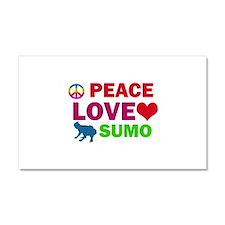 Peace Love Sumo Designs Car Magnet 20 x 12
