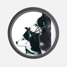 Siberian Huskies Wall Clock