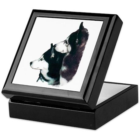 Siberian Huskies Keepsake Box