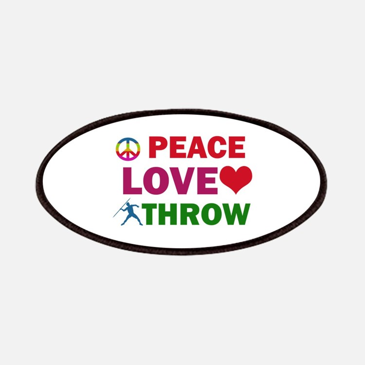 Peace Love Throw Designs Patches
