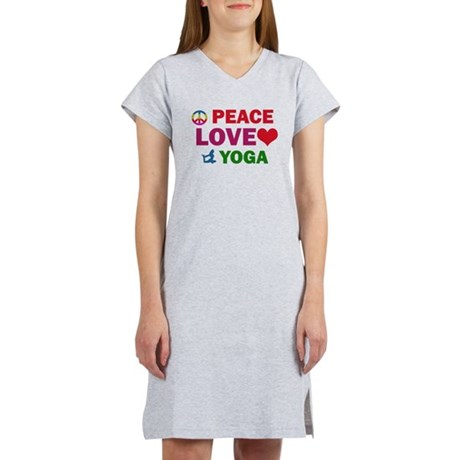 Peace Love Yoga Designs Women's Nightshirt