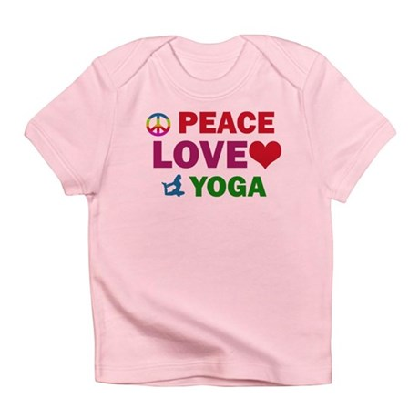 Peace Love Yoga Designs Infant T-Shirt