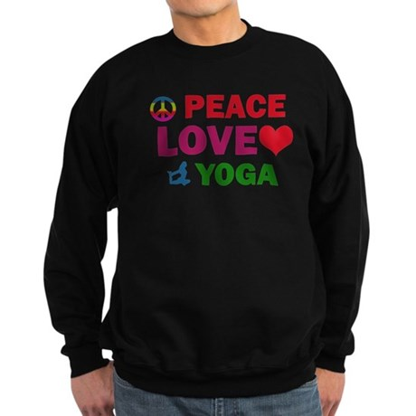 Peace Love Yoga Designs Sweatshirt (dark)