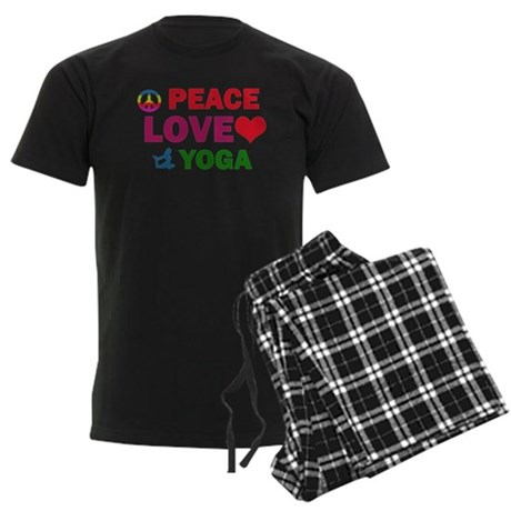 Peace Love Yoga Designs Men's Dark Pajamas