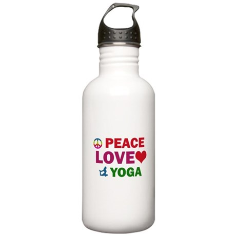 Peace Love Yoga Designs Stainless Water Bottle 1.0