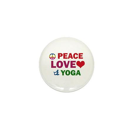 Peace Love Yoga Designs Mini Button (100 pack)