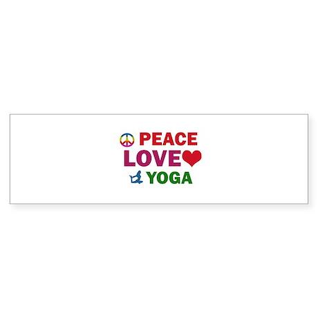 Peace Love Yoga Designs Sticker (Bumper)