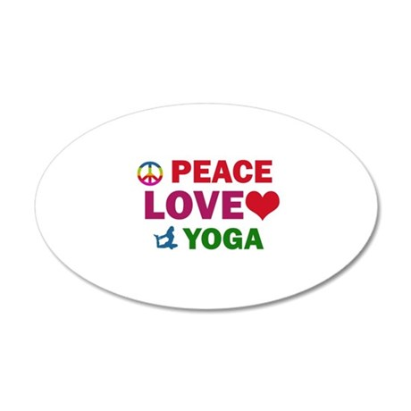 Peace Love Yoga Designs 20x12 Oval Wall Decal