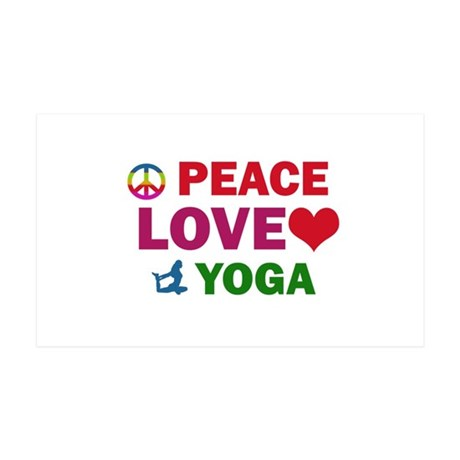 Peace Love Yoga Designs 35x21 Wall Decal