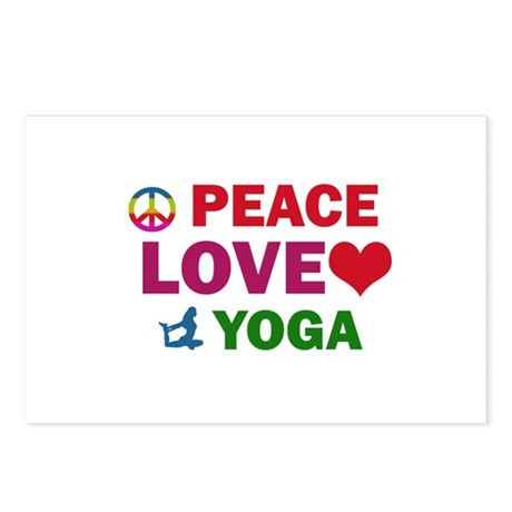 Peace Love Yoga Designs Postcards (Package of 8)