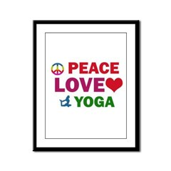Peace Love Yoga Designs Framed Panel Print