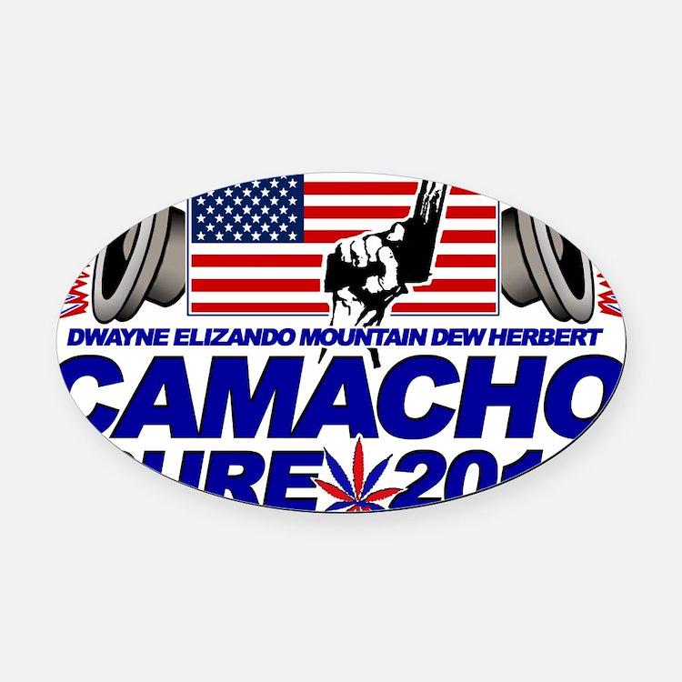 CAMACHO / NOT SURE - CAMPAIGN 2012 Oval Car Magnet