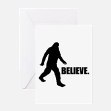 BELIEVE IN BIGFOOT Greeting Card