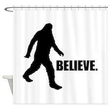 BELIEVE IN BIGFOOT Shower Curtain