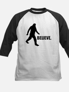 BELIEVE IN BIGFOOT Kids Baseball Jersey