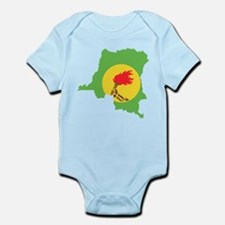 Zaire Flag and Map Infant Bodysuit