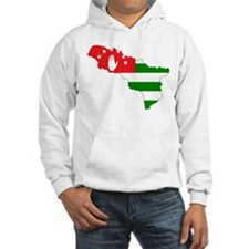 Abkhazia Flag and Map Hoodie