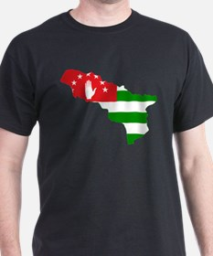 Abkhazia Flag and Map T-Shirt