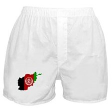 Afghanistan Flag and Map Boxer Shorts