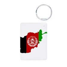 Afghanistan Flag and Map Keychains
