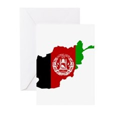 Afghanistan Flag and Map Greeting Cards (Pk of 20)