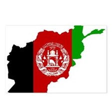 Afghanistan Flag and Map Postcards (Package of 8)