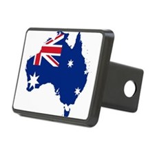 Australia Flag and Map Rectangular Hitch Cover