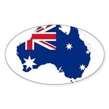Australia Flag and Map Decal