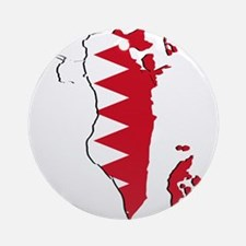 Bahrain Flag and Map Ornament (Round)