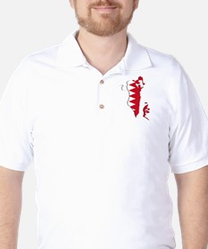 Bahrain Flag and Map Golf Shirt