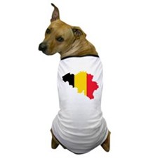 Belgium Flag and Map Dog T-Shirt