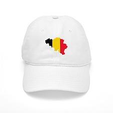 Belgium Flag and Map Baseball Cap