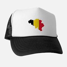 Belgium Flag and Map Trucker Hat